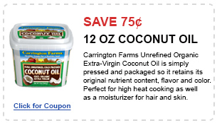 organic 12oz Coconut Oil coupon
