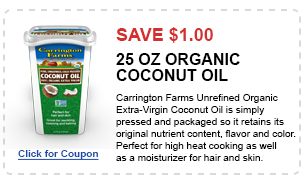 organic 25oz Coconut Oil coupon