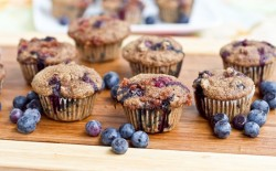 Blueberry Flax Chia Muffins