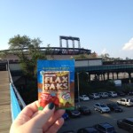 Shary and her Flax Pak roots for the New York Mets at Citi Field.