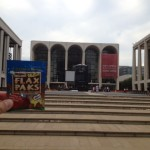 Flax Paks getting some culture in Lincoln Center, NYC.