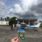 Coconut Oil Paks are good for everything including reducing the fear of flying in this tiny plane!