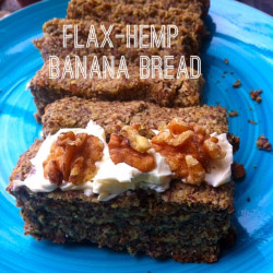 flax hemp banana bread